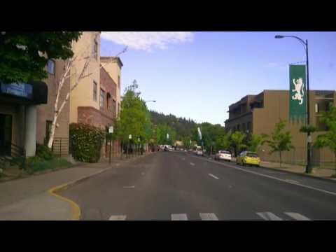 ASHLAND OREGON LITHIA PARK SLOW DRIVE