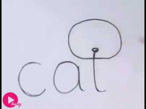 Berühmt Dessin de chat facile à faire - YouTube RO57
