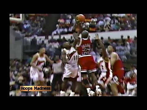 Mookie Blaylock Blocks Michael Jordan! Announcers React Like They Won the Championship!