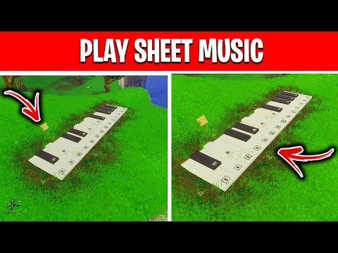 Play The Sheet Music At An Oversized Piano - Fortnite Week 6 Season 10 Challenge [BOOGIE DOWN]