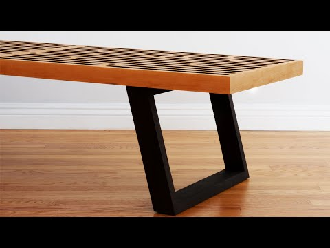 Build A Mid Century Modern Coffee Table / Nelson Bench – Woodworking