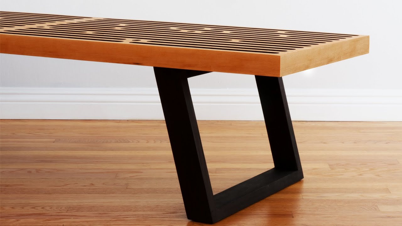 Build a mid century modern coffee table nelson bench build a mid century modern coffee table nelson bench woodworking geotapseo Gallery