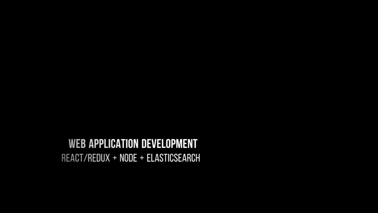 ReactJS/Redux, NodeJs and ElasticSearch - 1 - Curriculum