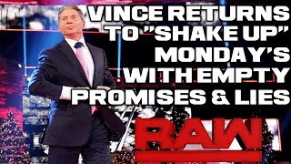 WWE Raw Dec. 17, 2018 Full Show Review & Results: VINCE MCMAHON