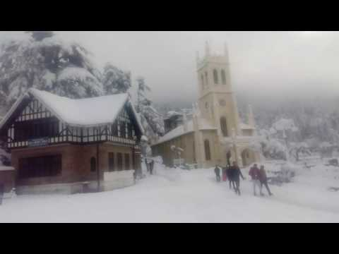 Snowfall in shimla 07-01-2017