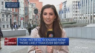 EU's Tusk warns a no-deal Brexit now 'more likely than ever before' | Squawk Box Europe