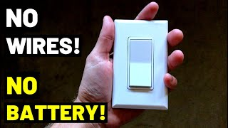 THIS LIGHT SWITCH HAS NO WIRES / BATTERY! See How It Works...(Smart Lighting Setup--PROS + CONS)