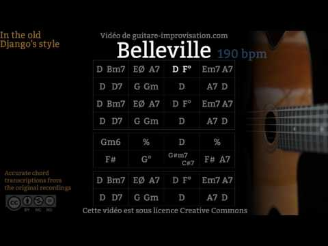 Belleville (190 bpm) - Gypsy jazz Backing track / Jazz manouche