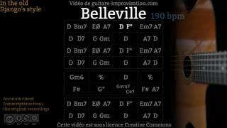 Belleville (190 bpm) - Gypsy jazz Backing track / Jazz manouche