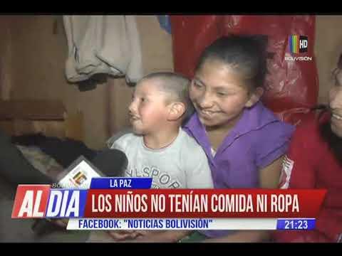 8 hijos y su padre reciben solidaridad del personal de ANH