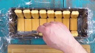 Cubre el molde con galletas de soletilla. Ahora es tiempo de empezar a saborear las rebanadas