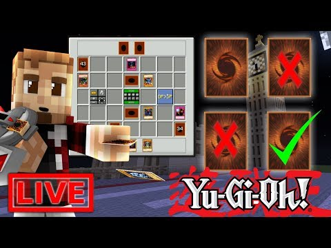 Chatting & Opening Packs! New Deck Building! ( Minecraft YUGIOH MOD LIVE )