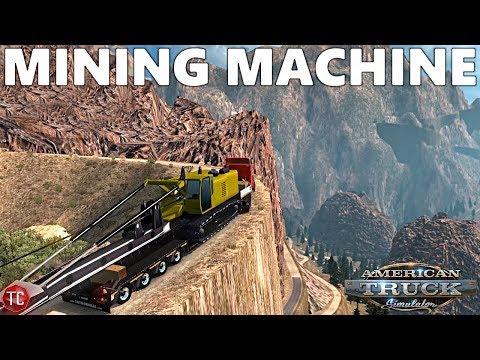 American Truck Simulator Mods: MINING EXCAVATOR Vs STEEP MOUNTAIN