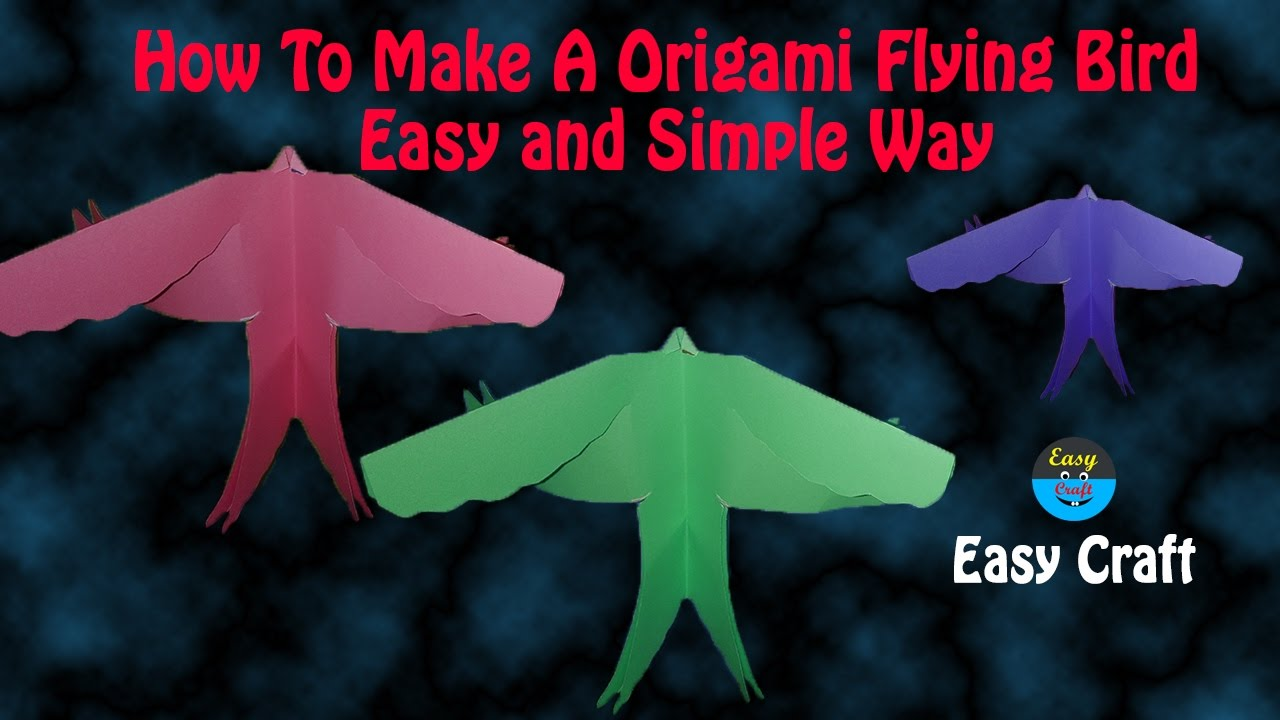 How to make a origami flying bird easy and simple way for How to make origami goose