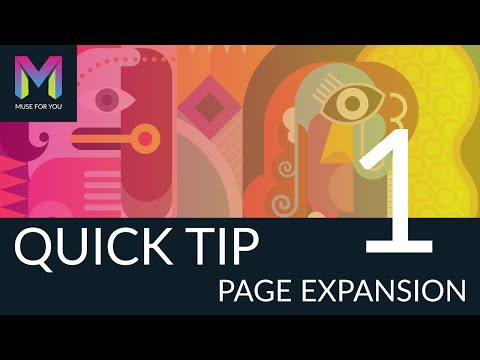 Quick Tip #1 - Page Expansion | Adobe Muse CC | Muse For You
