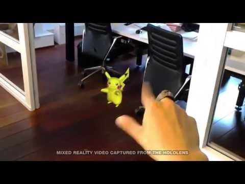 Realidad virtual capturando Pokemon Go