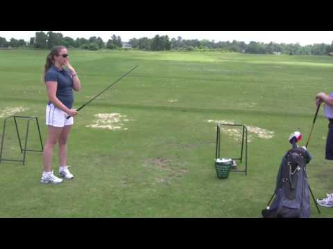 French Girl Learns to Golf