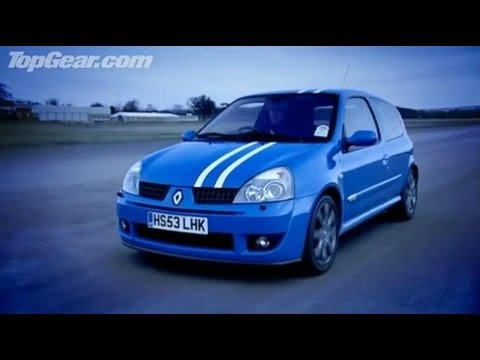 renault clio 182 road test review top gear bbc youtube. Black Bedroom Furniture Sets. Home Design Ideas