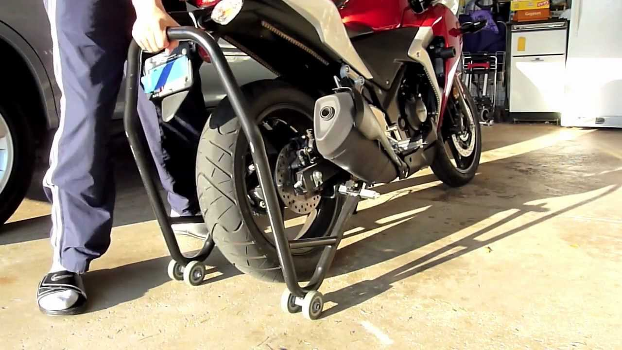 motorcycle stands how to use youtube. Black Bedroom Furniture Sets. Home Design Ideas