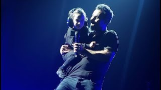 Serj Tankian with his son on stage | System of a Down 2018
