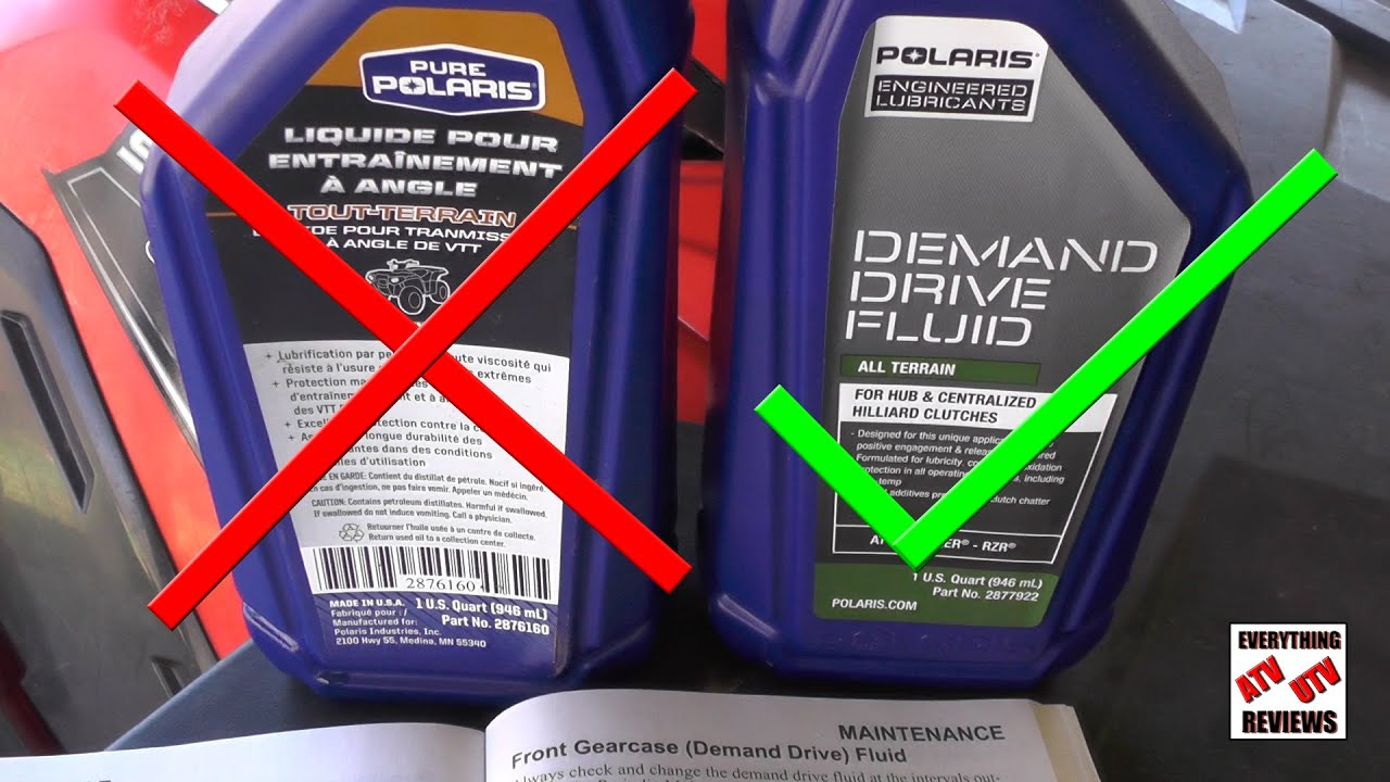Polaris Sportsman Front Diff Gearcase Fluid Change - YouTube