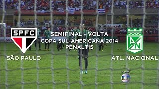 Pênaltis - São Paulo 1 x 4 Nacional de Medellin - Copa Sul-americana - 26/11/2014