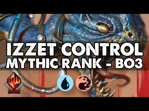 Mythic Ranked Play - Izzet Control (Best of 3) | Standard | MTG Arena