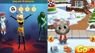 Who is the Best Queen Bee or Frosty Tom? (Miraculous Ladybug VS Talking Tom Gold Run)