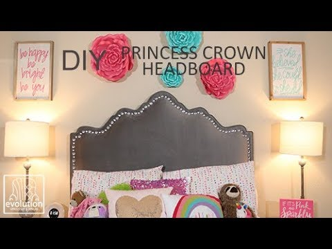 How to Build a Princess Crown Headboard | DIY Upholstery