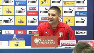 Aleksandar Mitrović i Ljubiša Tumbaković pred Meč Srbija - Luksemburg   SPORT KLUB FUDBAL
