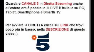 Video Watch Canale 5 in live streaming download MP3, 3GP, MP4, WEBM, AVI, FLV Desember 2017