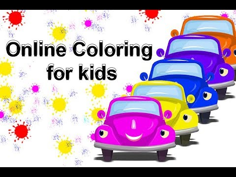 Children Learning Shapes And Colors || Online Coloring For Kids