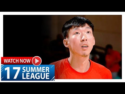 Zhou Qi Full Highlights vs Nuggets (2017.07.07) Summer League - 17 Pts, 6 Reb