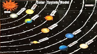 solar system model making for school science exhibition project - diy