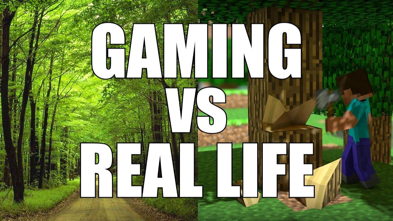 Gaming Vs Real Life YouTube