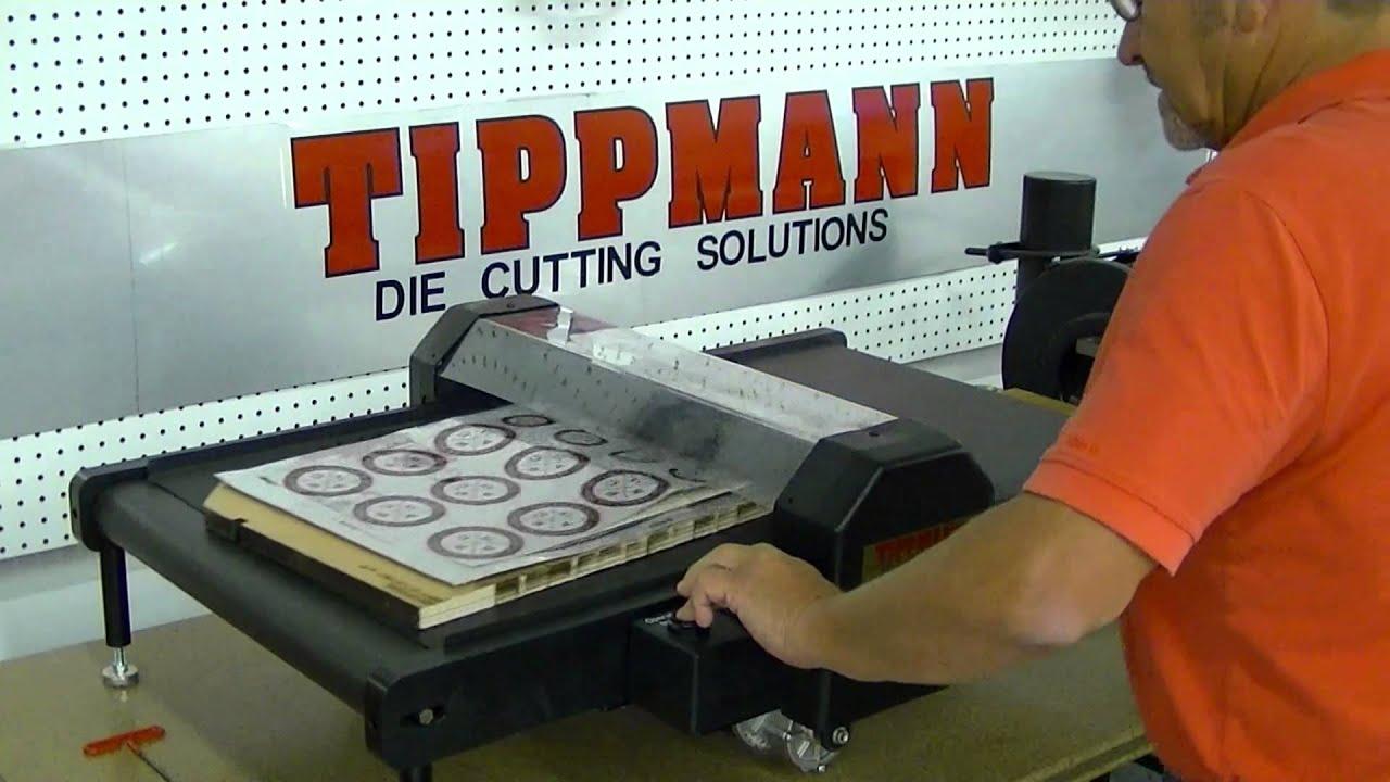 Tippmann Roller Die Cutting Press Die Cutting Demonsration
