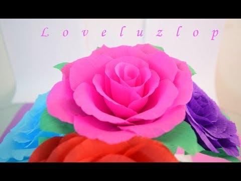 Como hacer rosas de papel crepe flores de papel crepe - Www como hacer flores com ...