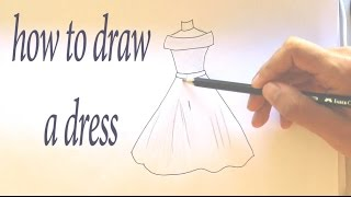 How to Draw a Dress Easy Step by Step