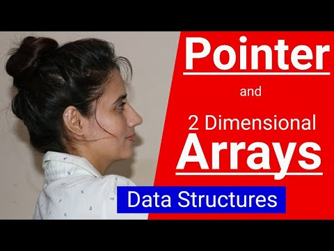 Pointers And 2-D Arrays | Two Dimensional Array | Data Structure