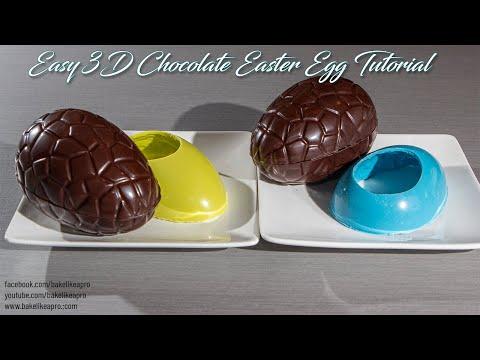 Easy 3D Chocolate Easter Egg Tutorial