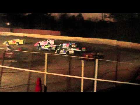 lake cumberland speedway 10 22 11 late model heat 3 part 1