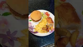 Party Time Veggie Burger Platter #shorts #youtubeshorts #deepsallinonechannel #vegrecipes