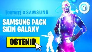 NEWS INFOS on THE SAMSUNG PACK WITH THE GALAXY SKIN on FORTNITE!!