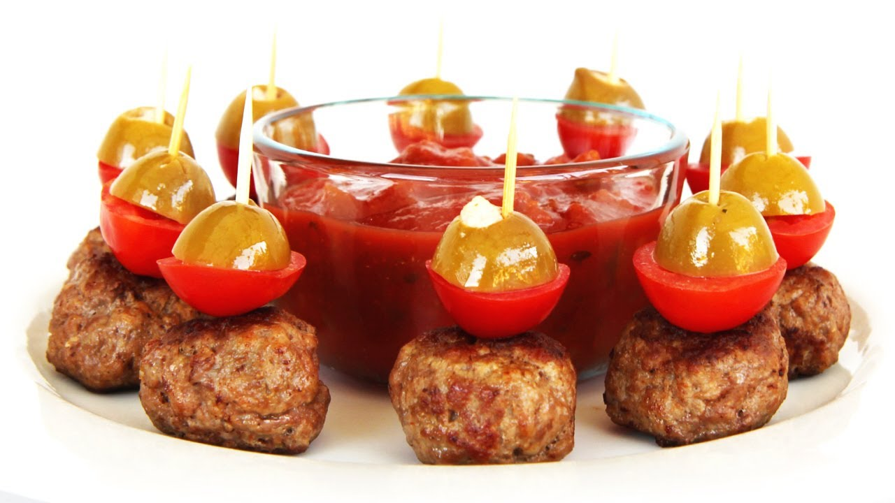 Spicy meatball hors doeuvres finger food video recipe youtube forumfinder Gallery