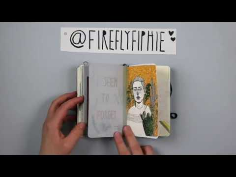 Art Journal Flip Through (December 2016) @FIREFLYFIPHIE