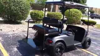 2011 txt 48 volt ezgo golf cart new charcoal gray metallic oem body black top seats