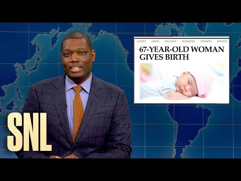 Weekend Update: Foie Gras Ban and 67-Year-Old Woman Gives Birth - SNL