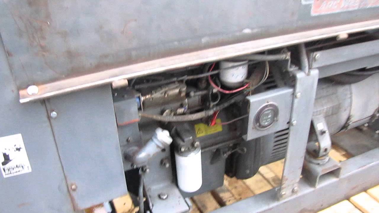 lincoln shield arc sa 250 welder perkins diesel engine as is [ 1280 x 720 Pixel ]