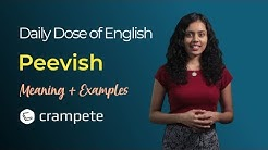 DailyDose of English - Peevish Meaning - Verbal Lesson