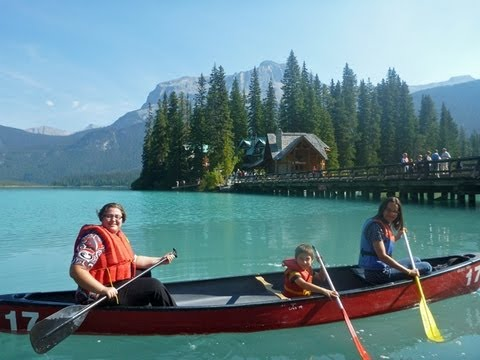 Canoeing In Emerald Lake And Natural Bridge Yoho National Park BC Canada Video #3 out of 31